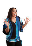 Plus Size Fashion Female Model Gesture Royalty Free Stock Photo
