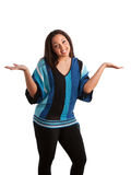 Plus Size Fashion Female Model Gesture Royalty Free Stock Image