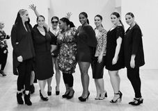 Plus-size Fashion Weekend Fashion show- February London 2014 Stock Photo