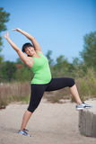 Plus Size Female Exercise Outdoor Stock Images