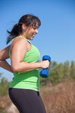 Plus Size Female Exercise Outdoor Royalty Free Stock Images