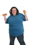 Plus Size Female Exercising Stock Photography