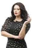 Plus size model in dress Royalty Free Stock Images