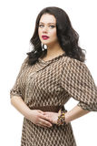 Plus size model in dress Royalty Free Stock Photos