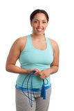 Plus Size Model Holding Jump Rope Stock Images
