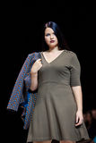 Plus size model walk runway for LA REDOUTE & PLUS-SIZE MOSCOW catwalk at Spring-summer 2017 Moscow Fashion Week. Stock Photo