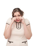 Plus size woman crying Stock Images