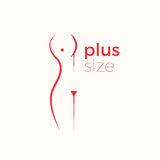 Plus size woman  logo concept Royalty Free Stock Photography