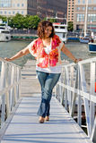 Plus size woman standing Royalty Free Stock Photo