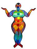 Plus Size Yoga Chakra Illustration Stock Photos