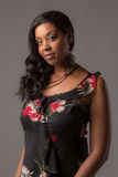 Plus Size Young African American Woman Portrait Royalty Free Stock Image