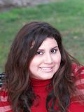 Plus-size young hispanic woman. Young Latina Woman Outdoor Portrait Royalty Free Stock Images