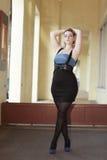 Plus sized fashion model Stock Photos
