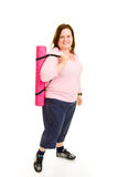 Plus Sized Fitness - Ready for Workout Royalty Free Stock Photos