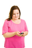 Plus Sized Model Texting Royalty Free Stock Photos