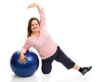 Plus Sized Pilates Stock Photography