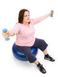 Plus Sized Pilates Workout Royalty Free Stock Photo