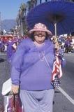 Plus sized woman marching in the Doo Dah Parade, Pasadena, California Stock Photos