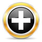 Plus symbol Arkivfoton