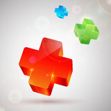Plus symbol. Abstract colorful background Stock Images