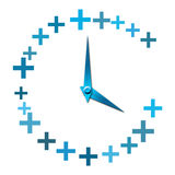 Plus symbol clock Stock Image