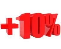 Plus tien geïsoleerdet percents Stock Afbeelding
