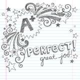 A Plus uczni stopni szkoły Wielki Szkicowy Doodle Fotografia Royalty Free
