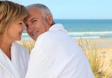 Plus vieux dans les dunes de sable image libre de droits