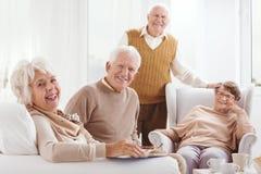 Plus vieux et heureux ensemble Photo libre de droits