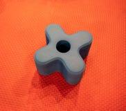 A plus vorm van schuimbouwsteen voor onderwijs stuk speelgoed geïsoleerd o stock fotografie