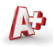 A+ Plus Wielka stopnia wynika informacje zwrotne wierzchołka ocena Fotografia Stock