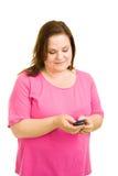 plus wielkości sms - ów model Zdjęcia Royalty Free