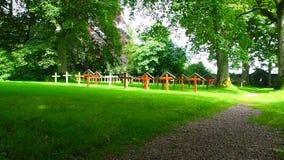 Pluscarden修道院的坟园的看法,苏格兰 股票录像