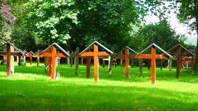 Pluscarden修道院的坟园的看法,苏格兰 影视素材
