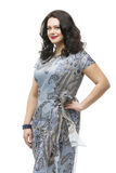 Plusgrößenmodell im Kleid Lizenzfreie Stockfotografie