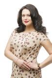 Plusgrößenmodell im Kleid Stockbilder
