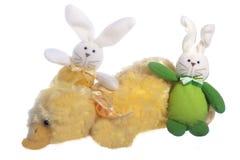 Plush animals. Small plush animals on a white background Stock Photo
