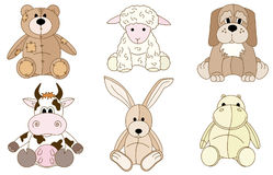Plush animals toys Stock Photography