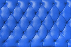 Plush blue leather Royalty Free Stock Images