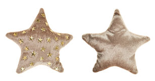 Plush brown star shaped pillow toy Royalty Free Stock Images