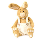 Plush bunny. Children's beige plush toy. bunny Royalty Free Stock Photos