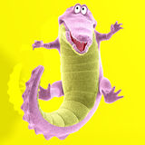 Plush crocodile Royalty Free Stock Images