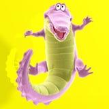 Plush crocodile vector illustration