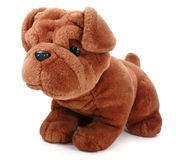 Plush dog. Royalty Free Stock Image