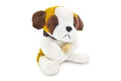Plush dog toy isolated on a white background Royalty Free Stock Image