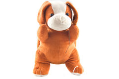 Plush dog. On white background Stock Photo