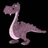 Plush dragon Stock Images