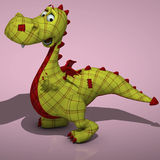 Plush dragon. A very cute and lovely cartton dragon made out of plush Image contains a Clipping Path / Cutting Path for the main object vector illustration