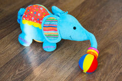 Plush elephant Stock Image