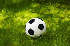 Plush football ball Stock Image